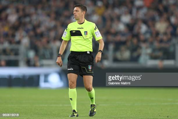Gianluca Rocchi referee during the serie A match between Juventus and SSC Napoli on April 22 2018 in Turin Italy Gianluca Rocchi