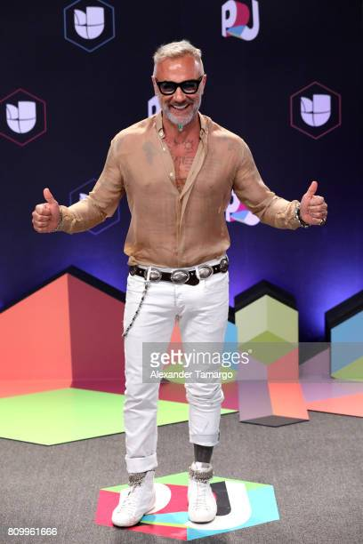 Gianluca Vacchi attends the Univision's 'Premios Juventud' 2017 Celebrates The Hottest Musical Artists And Young Latinos ChangeMakers at Watsco...
