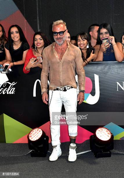 Gianluca Vacchi is seen backstage during Univision's 'Premios Juventud' 2017 Celebrates The Hottest Musical Artists And Young Latinos ChangeMakers at...