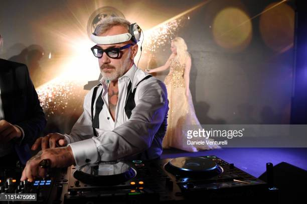 Gianluca Vacchi performs at theInaugural 'World Bloggers Awards' during the 72nd annual Cannes Film Festival on May 24, 2019 in Cannes, France. The...