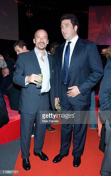 Gianluca Vialli and Eduardo Teddorani during Fiat Launch the New Bravo June 13 2007 at The Roundhouse in London Great Britain