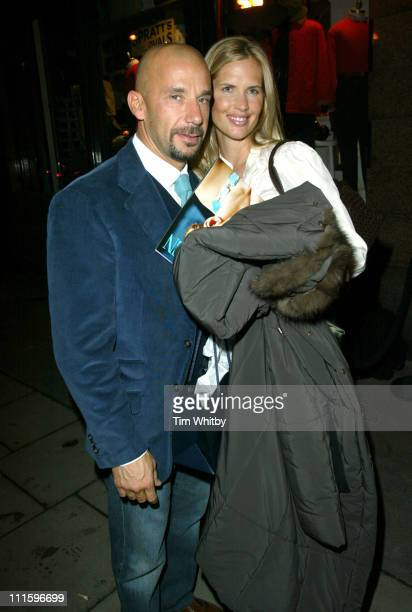 Gianluca Vialli and fiancee Catherine WhiteCooper