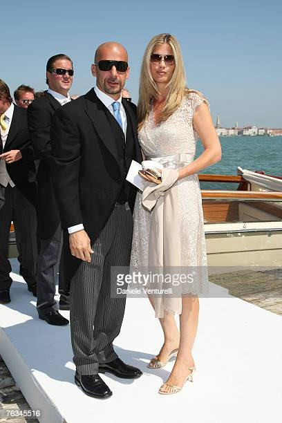 GianLuca Vialli and Wife attend the wedding of Tamara Beckwith and Giorgio Veroni held at the Redentore church on August 272007 in Venice