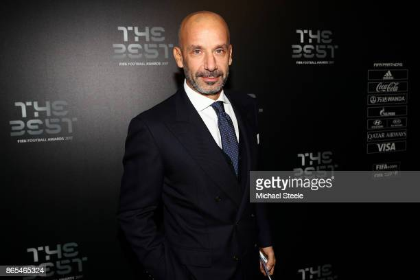 Gianluca Vialli arrives for The Best FIFA Football Awards Green Carpet Arrivals on October 23 2017 in London England