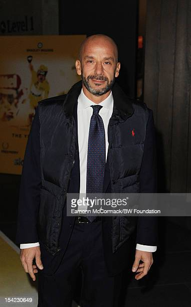 Gianluca Vialli attends the Bradley Wiggins Foundation 'The Yellow Ball' event at The Roundhouse on October 16 2012 in London England The dinner and...