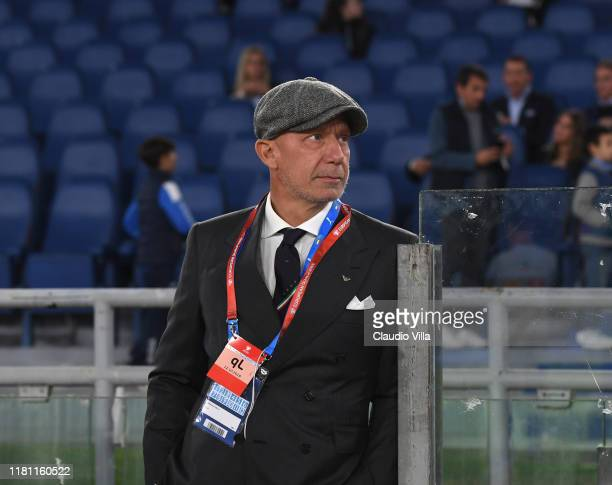 Gianluca Vialli attends the UEFA Euro 2020 qualifier between Italy and Greece on October 12 2019 in Rome Italy