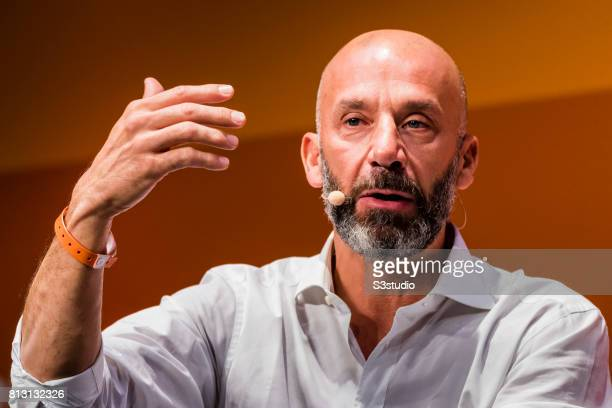 Gianluca Vialli cofounder of Tifosy attends the Day 2 of the RISE Conference 2017 at the Hong Kong Convention and Exhibition Centre on 12 July 2017...