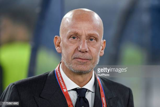 Gianluca Vialli during the European Qualifier Group J match between Italy and Greece at at Stadio Olimpico Rome Italy on 12 October 2019