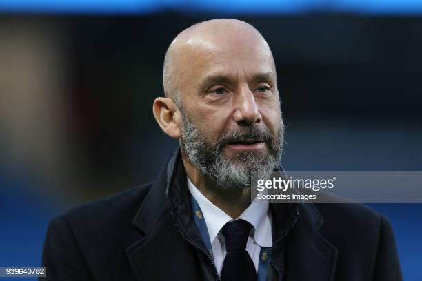Gianluca Vialli during the International Friendly match between Italy v Argentina at the Etihad Stadium on March 23 2018 in Manchester United Kingdom