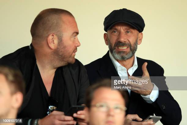 Gianluca Vialli in the stands during the PreSeason Friendly between Fulham v Sampdoria at the EBB Stadium on August 1 2018 in Aldershot England