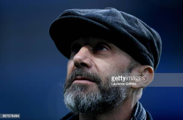 Gianluca Vialli looks on prior to the International friendly match between Italy and Argentina at Etihad Stadium on March 23 2018 in Manchester...