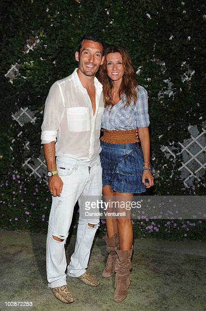 Gianluca Zambrotta and Valentina Zambrotta attend day three of the Ischia Global Film And Music Festival on July 13 2010 in Ischia Italy