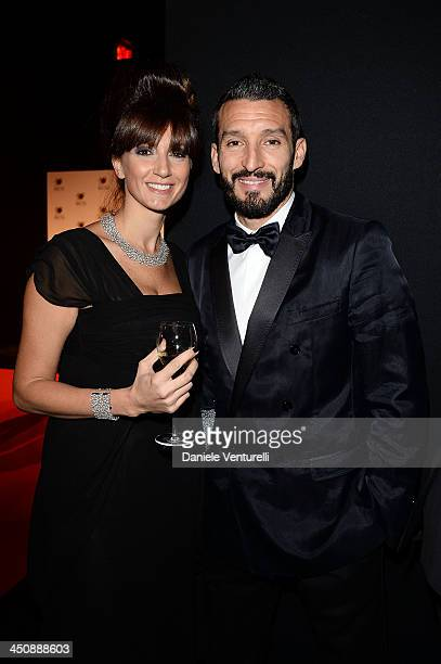 Gianluca Zambrotta and Valentina Zambrotta attend the Fondazione Milan 10th Anniversary Gala on November 20 2013 in Milan Italy