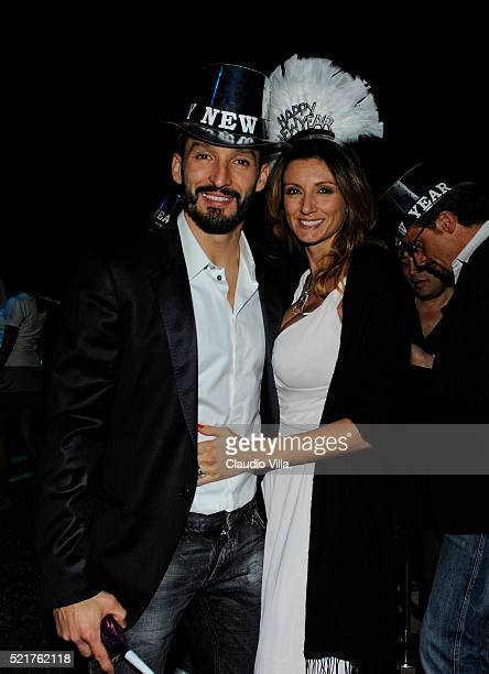 Gianluca Zambrotta e Valentina Zambrotta attend New Year's Eve Party on December 31 2011 in Dubai United Arab Emirates