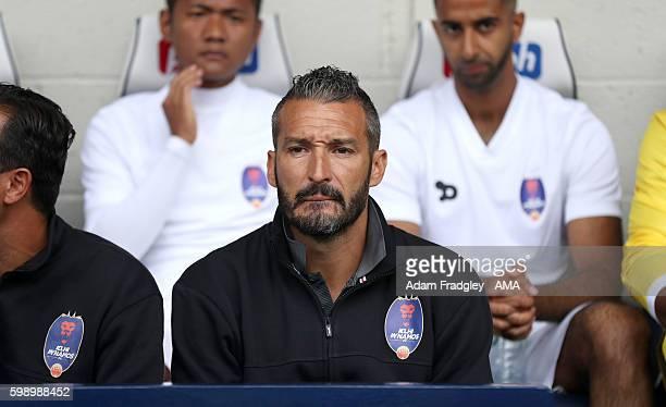 Gianluca Zambrotta head coach of Dehli Dynamos during the international friendly match between West Bromwich Albion and Delhi Dynamos at The...