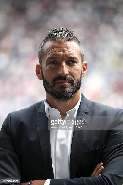 Gianluca Zambrotta Manager of the Delhi Dynamos during the Premier League match between West Bromwich Albion and Middlesbrough at The Hawthorns on...