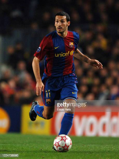 Gianluca Zambrotta of Barcelona in action during the UEFA Champions League Round of 16 first leg match between Barcelona and Liverpool at the Camp...