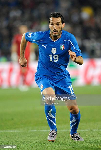 Gianluca Zambrotta of Italy during the 2010 FIFA World Cup South Africa Group F match between Slovakia and Italy at Ellis Park Stadium on June 24...