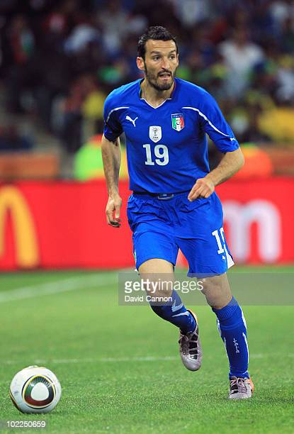 Gianluca Zambrotta of Italy in action during the 2010 FIFA World Cup South Africa Group F match between Italy and New Zealand at the Mbombela Stadium...