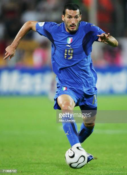 Gianluca Zambrotta of Italy in action during the FIFA World Cup Germany 2006 Semifinal match between Germany and Italy played at the Stadium Dortmund...