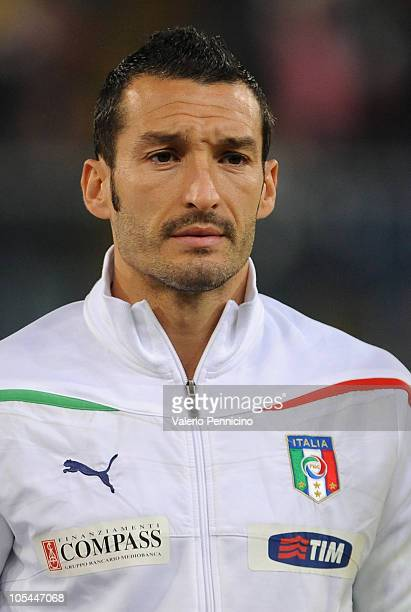 Gianluca Zambrotta of Italy looks on prior to the Uefa Euro 2012 qualifying match between Italy and Serbia at Luigi Ferraris Stadium on October 12...