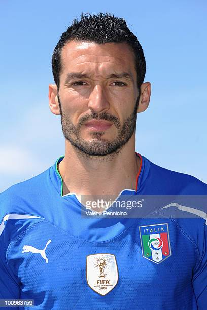 Gianluca Zambrotta of Italy national team poses for a photo during the official Fifa World Cup 2010 portrait session on May 26 2010 in Sestriere near...