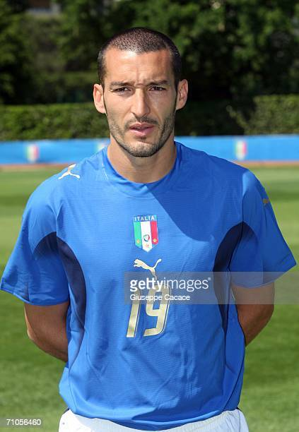 Gianluca Zambrotta of Italy poses during an official team group picture session on May 25 2006 in Coverciano