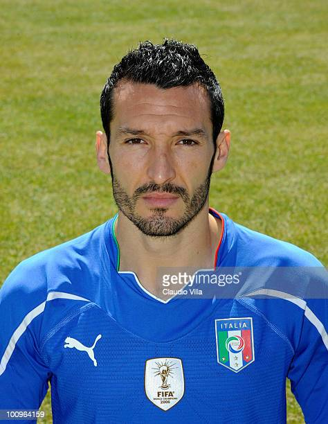 Gianluca Zambrotta of Italy poses during the official Fifa World Cup 2010 portrait session on May 26 2010 in Sestriere near Turin Italy