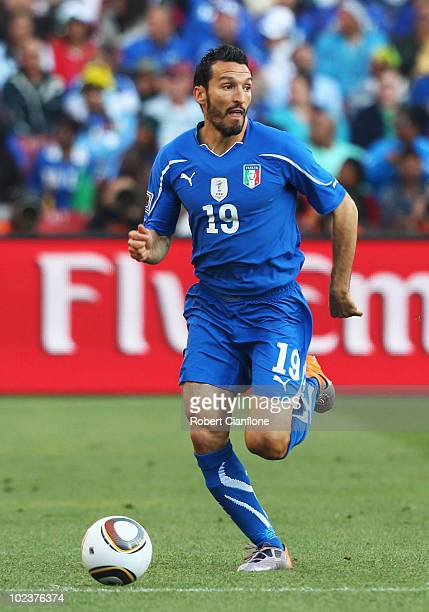 Gianluca Zambrotta of Italy runs with the ball during the 2010 FIFA World Cup South Africa Group F match between Slovakia and Italy at Ellis Park...