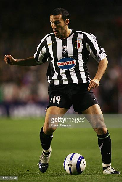 Gianluca Zambrotta of Juventus in action during the UEFA Champions League Quarter Finals First Leg match between Arsenal and Juventus at Highbury...