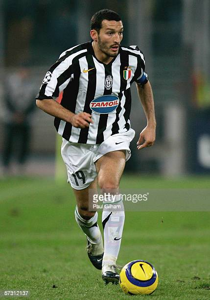 Gianluca Zambrotta of Juventus in action during the UEFA Champions League Quarter Final Second Leg match between Juventus and Arsenal at the Delle...