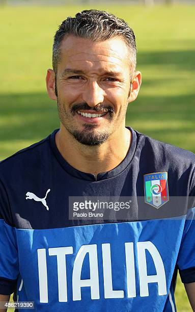 Gianluca Zambrotta of the Azzurri Stars looks on during the training session at Acqua Acetosa sports center on August 31 2015 in Rome Italy