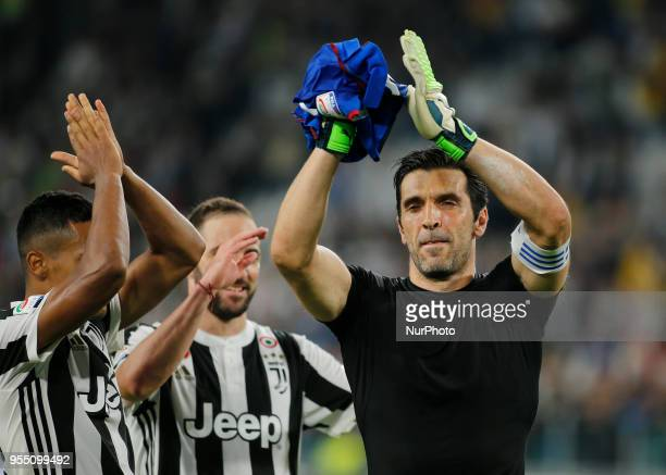 Gianluigi Buffon during serie A match between Juventus v Bologna in Turin on May 5 2018