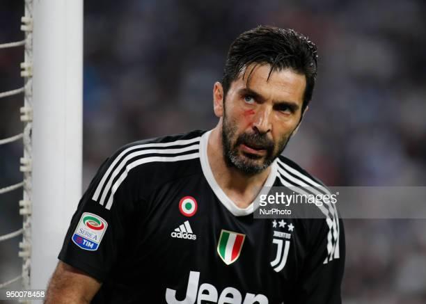 Gianluigi Buffon during serie A match between Juventus v Napoli in Turin on April 22 2018