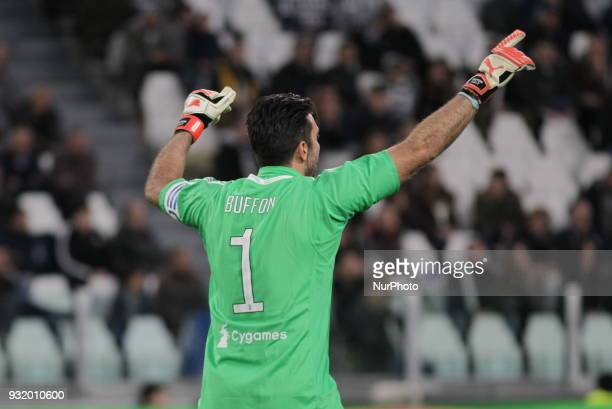 Gianluigi Buffon during the Serie A football match between Juventus FC and Atalanta BC at Allianz Stadium on 14 March 2018 in Turin Italy Juventus...