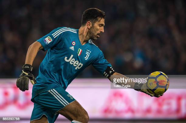 Gianluigi Buffon goalkeeper of Juventus in action during the Serie A match between SSC Napoli and Juventus at Stadio San Paolo on December 1 2017 in...