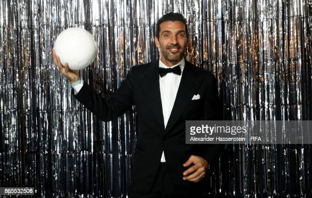 Gianluigi Buffon is pictured inside the photo booth prior to The Best FIFA Football Awards at The London Palladium on October 23 2017 in London...