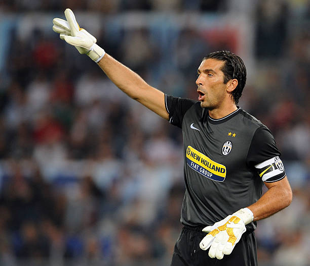 42341f27b Gianluigi Buffon of FC Juventus gestures during the Serie A match between SS  Lazio v FC