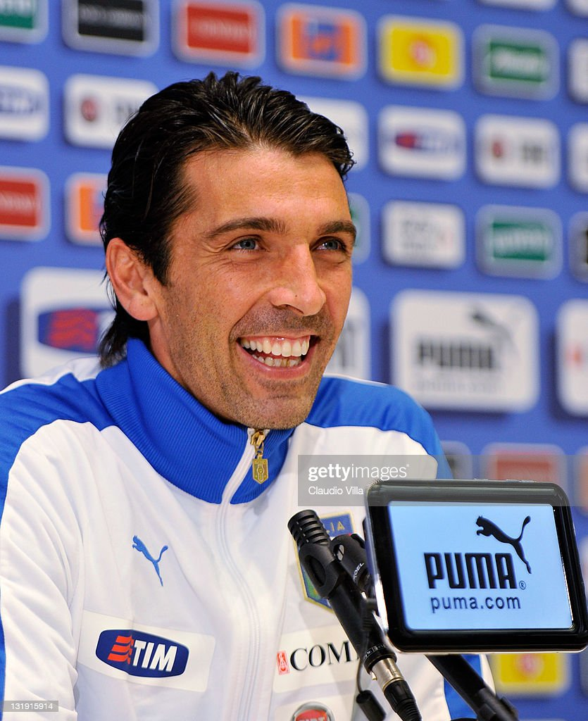 Gianluigi Buffon of Italy during press conference at Coverciano on November 8, 2011 in Florence, Italy.