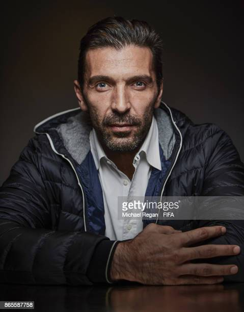 Gianluigi Buffon of Italy poses during The Best FIFA Football Awards at The May Fair Hotel on October 23 2017 in London England