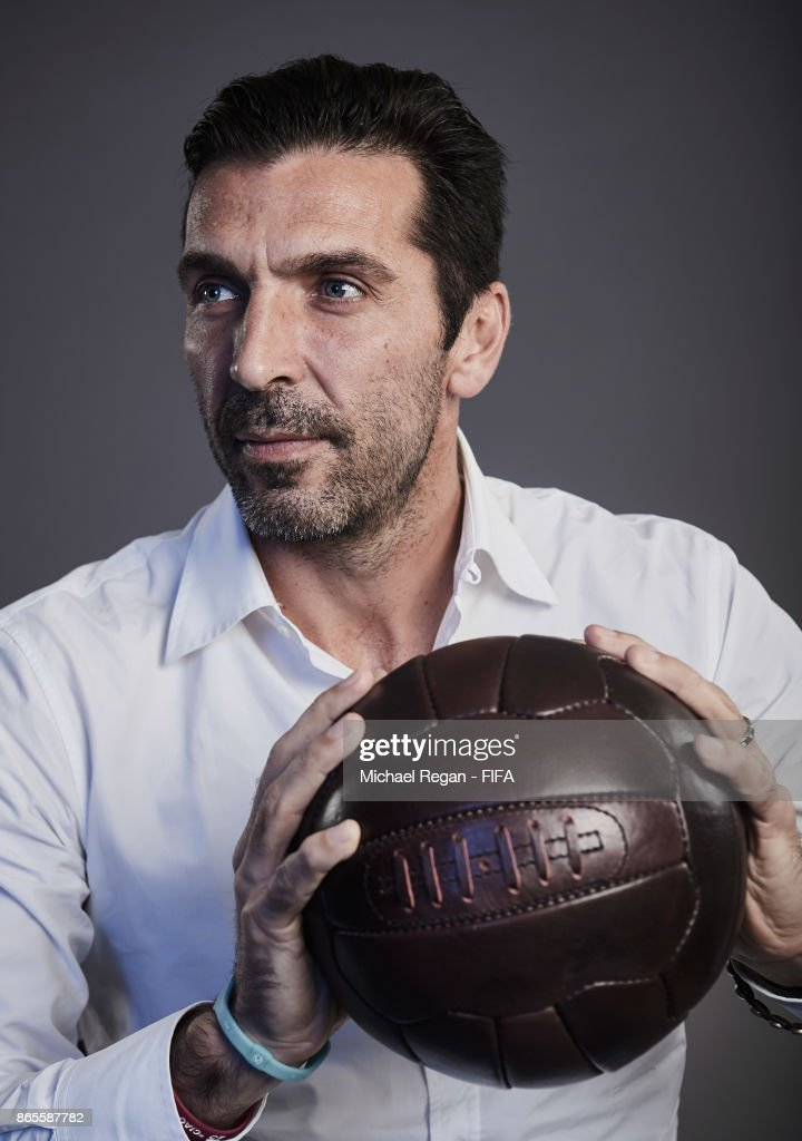 Gianluigi Buffon of Italy poses during The Best FIFA Football Awards at The May Fair Hotel on October 23, 2017 in London, England.