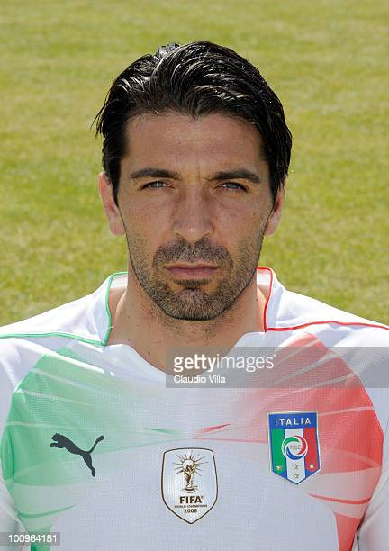 Gianluigi Buffon of Italy poses during the official Fifa World Cup 2010 portrait session on May 26 2010 in Sestriere near Turin Italy
