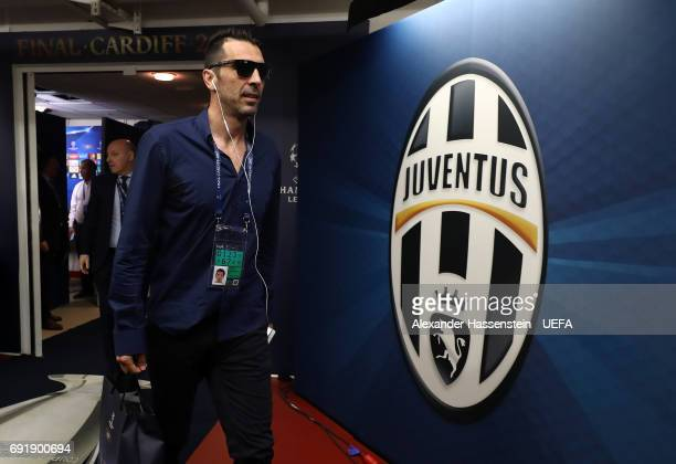 Gianluigi Buffon of Juventus arrives at the stadium prior to the UEFA Champions League Final between Juventus and Real Madrid at National Stadium of...
