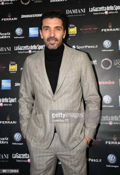 Gianluigi Buffon of Juventus attends the Gazzetta Sports Awards on December 12 2017 in Milan Italy