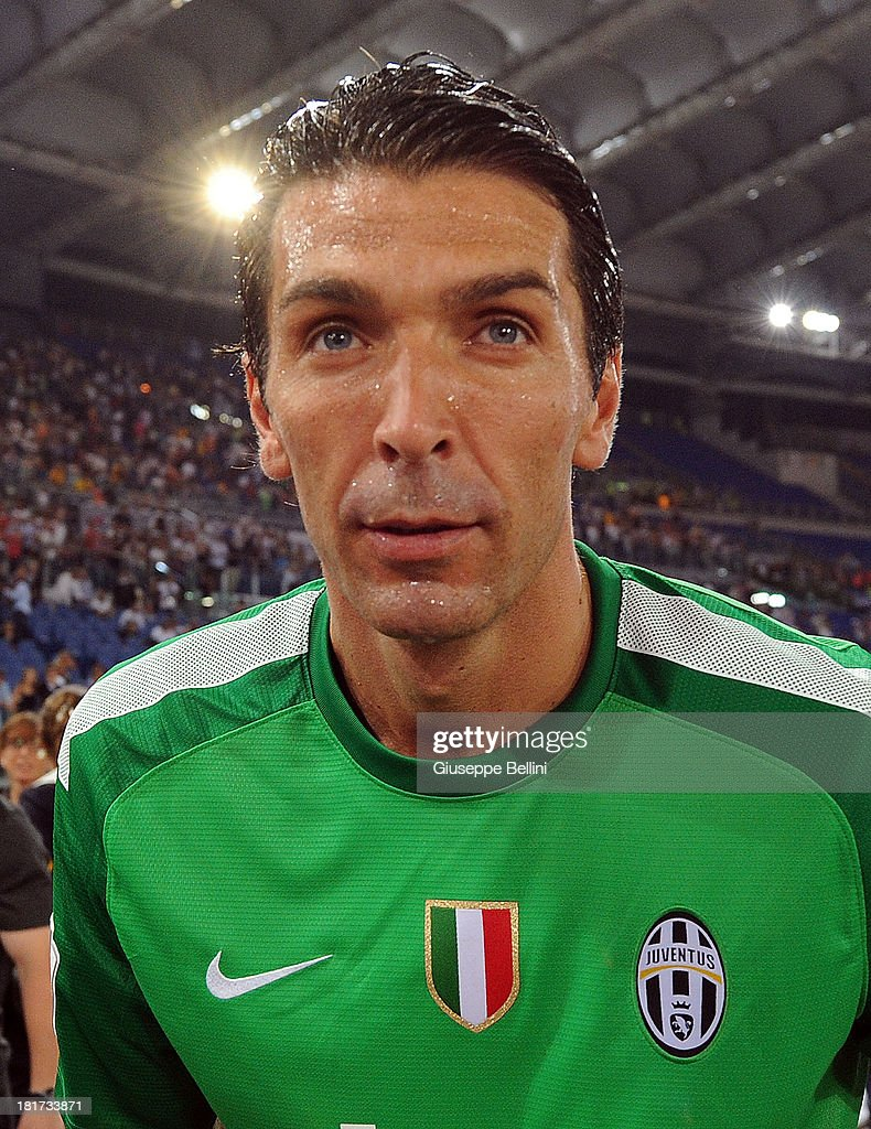 fb004004a Gianluigi Buffon of Juventus celebrates the victory after the TIM ...