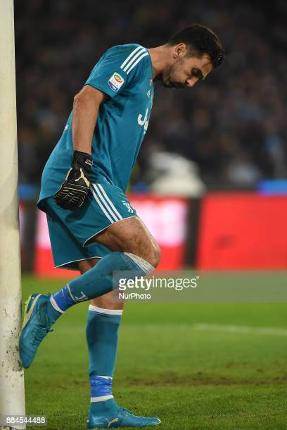 Gianluigi Buffon of Juventus during the Serie A TIM match between SSC Napoli and Juventus FC at Stadio San Paolo Naples Italy on 1 December 2017