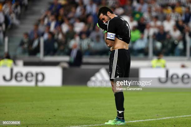 Gianluigi Buffon of Juventus FC disappointed during the Serie A football match between Juventus FC and Ssc Napoli Ssc Napoli wins 10 over Juventus Fc