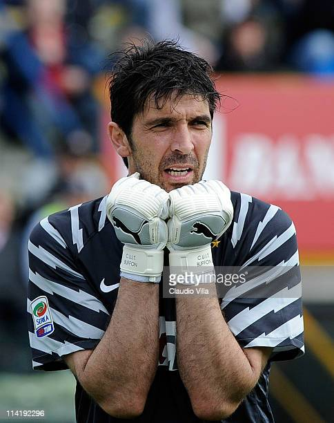 Gianluigi Buffon of Juventus FC during the Serie A match between Parma FC and Juventus FC at Stadio Ennio Tardini on May 15 2011 in Parma Italy