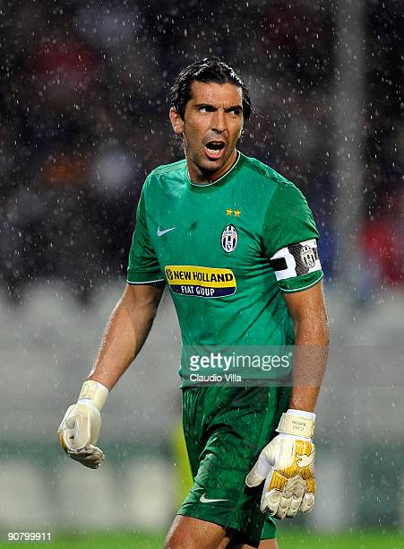 Gianluigi Buffon of Juventus FC during the UEFA Champions League Group A match between Juventus FC and FC Girondins de Bordeaux at the Olympic...