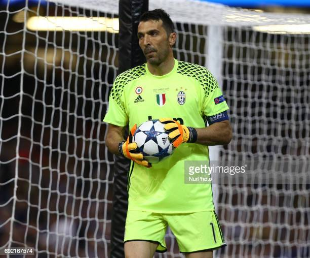 Gianluigi Buffon of Juventus FC during the UEFA Champions League Final match between Real Madrid and Juventus at National Wales Stadium in Cardiff...